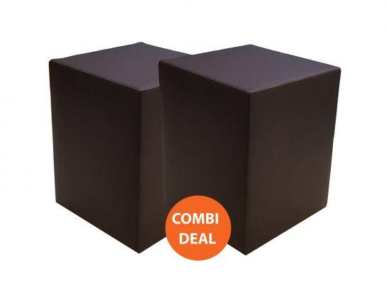 Hocker Zwart Skai Deluxe Combi Actie (2x)